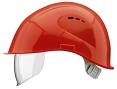 Prilba VOSS VISOR LIGHT krátky šilt predĺženie do tyla bočná ventilácia integrovaný očný priezor červená