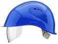 Prilba VOSS VISOR LIGHT ochrana zátylku PC priezor modrá
