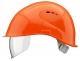 Prilba VOSS VISOR LIGHT krátky šilt predĺženie do tyla bočná ventilácia integrovaný očný priezor oranžová