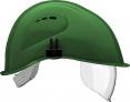 Prilba VOSS VISOR LIGHT krátky šilt predĺženie do tyla bočná ventilácia integrovaný očný priezor zelená