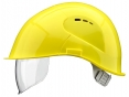 Prilba VOSS VISOR LIGHT krátky šilt predĺženie do tyla bočná ventilácia integrovaný očný priezor žltá