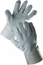 Rukavice CERVA SNIPE celokožené hovädzia štiepenka široká manžeta s dĺžkou 15 cm sivé
