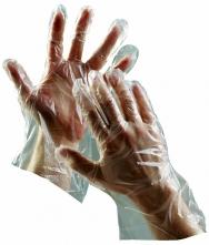 Rukavice CERVA DUCK jednorazové polyetylénové 100 ks číre