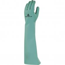 Rukavice DELTA PLUS NITREX 840 nitrilové 460 mm hrúbka 0,55 mm vnútorný flokovanie bavlnou zelené