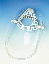 Ochranný tvárový vaničkový štít OKULA ŠP 15 vrátane jednoduchého hlavového držiaka plexisklo dĺžka 410 mm číry