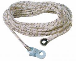 Lano AC 100 pracovné bezpečnostné oká na koncoch s karabínou AZ 002 splietané priemer 14 mm dĺžka 20 m