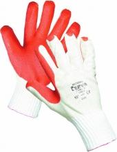 Rukavice CERVA REDWING pletené máčané v červenom latexe