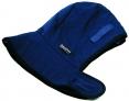 Kukla fleecová teplá CLASIC upínanie do ochrannej priemyselnej prilby modrá