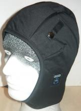 Kukla UNIVERN do prilby zateplená s pásikom pod bradu možnosť upevnenia do prilby čierna