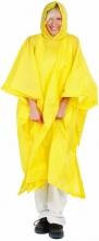 Pončo PVC veľké pevná kapucňa žlté