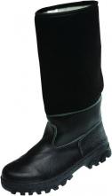 Obuv TIMUR holenná koženofilc zateplená čierna veľkosť 42