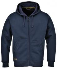Mikina PW NICKEL klokanka zateplená sťahovateľná kapucňa zapínanie na zips vrecká pri páse nápletové manžety tmavo modrá
