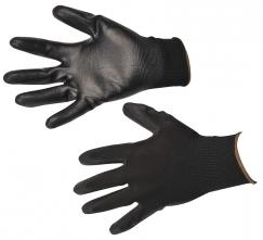 Rukavice PW A120 bezšvový nylonový úplet povrstvený polyuretánom čierne