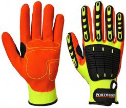 Rukavice Anti Impact Grip TPR/PES/nitrilová  pena protinárazové žlto/oranžovo/čierne
