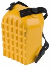 Nákolenník vaničkový vrúbkovaný upevnenie na pásiky penová guma žltý