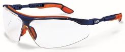Okuliare UVEX i-vo stranice modro/oranžové odolné proti poškriabaniu číre
