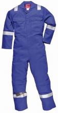 Kombinéza Bizweld Iona FR BA 330g zváračská trieda 1 ochrana proti plameňu reflexné pruhy strednoo modrá