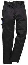 Nohavice PW COMBAT LADY dámske do pása s vreckami PES/BA čiastočne elastický pás čierne