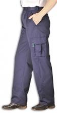 Nohavice PW COMBAT LADY dámske do pása s vreckami PES/BA čiastočne elastický pás tmavomodre