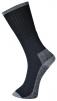 Ponožky pracovné PW SKATE akryl/nylon/PES balenie 3 páry zosilnená päty a špice čierno/sivé