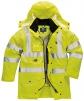 Bunda TRAFFIC 7 v 1 Hi-Vis kapucňa zateplená výstražná žltá veľkosť XL