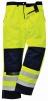 Nohavice BIZFLAME MULTI do pása antistatické elektroodolné nehorľavé výstražné svietivo žlté/tmavomodré veľkosť XL