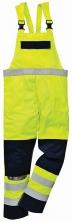 Nohavice BIZFLAME MULTI náprsenkové antistatické elektroodolné nehorľavé výstražné svietivo žlté/tmavomodré veľkosť XL
