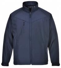 Softshellová bunda PW Oregon TECHNIK nepremokavá flísová podšívka stiahnuté rukávy tmavo modrá