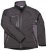 Softshellová bunda TECHNIK DUO čierno/sivá veľkosť XL