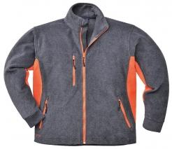 Mikina dvojfarebná PW Texo Heavy fleece 400 šedo/oranžová