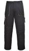 Montérkové nohavice TEXO do pása čierno/sivé veľkosť XL