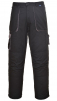 Montérkové nohavice TEXO do pása čierno/sivé veľkosť XXL