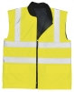 Vesta PW REVERSIBLE obojstranná zateplená výstražná reflexné pruhy vysoko viditeľná žltá