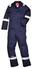 Kombinéza Bizweld Iona FR BA 330g zváračská trieda 1 ochrana proti plameňu reflexné pruhy tmavomodrá