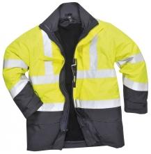 Bunda FLAMESAFE MULTI Hi-Vis antistatická zateplená nehorľavá svietivo žltá/tmavomodrá veľkosť XL