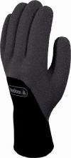 Rukavice Delta Plus HERCULE zateplené úplet akryl/polyamid dlaň a prsty potiahnuté penovým nitrilom čierne