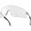 Okuliare Delta Plus LIPARI UV 400 neškrábatelné nárazuvzdorné dĺžkovo nastaviteľné sivo/čierne stráničky číre