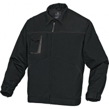 Montérková blúza DELTA MACH 2 NEW zips vrecká pri páse a na prsiach čierno/sivá