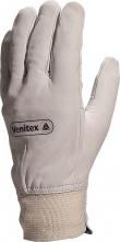 Rukavice Delta Plus GFBLE celokožené kvalitná lícová hovädzina náplet s ochranou zápästia sivé