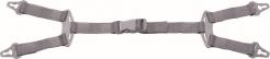 Podbradný pásik DYNAMIC 4 bodový na ochrannú prilbu QUARTZ, ZIRCON, DIAMOND sivý