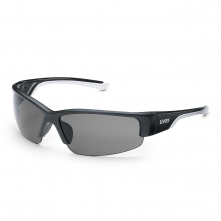 Okuliare UVEX Polavision® HC/HC stráničky čierno/biele ochrana proti UV 400 polarizačný filter nepoškrabateľné sivé