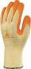 Rukavice Delta Plus Venitex VE730 úplet PES/bavlna dlaň a prsty potiahnuté zdrsneným latexom žlto/oranžové