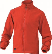 Mikina Delta Plus VERNON polar fleece zapínanie na zips červená