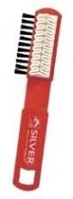 Kefka SILVER AB 1005 krepová údržba odevu a obuvi nubuk a velúr guma/štetiny obojstranný