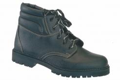 Pracovná obuv WIBRAM LUX celokožená protišmykový dezén členková čierna veľkosť 41