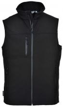 Softshellová vesta TECHNIK vodoodolná a priedušná čierna veľkosť XL