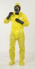 Ochranná protichemická kombinéza JETGUARD 3B odolnosť tlakovej kvapaline integrované topánky žltá veľkosť XL
