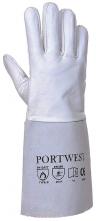Zváračské rukavice Premium Tig celokožené dlhé kozinka/hovädzina sivé veľkosť 10