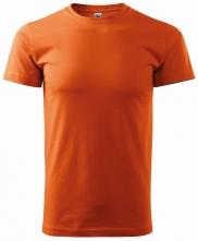 Tričko Basic 160 bavlnené okrúhly priekrčník silikónová úprava oranžové