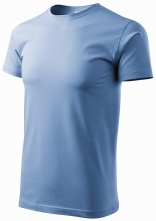 Tričko Basic okrúhly priekrčník 100 % bavlna 160g nebovomodré